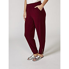 Liquid Knit Joggers with Zip Detail by Susan Graver