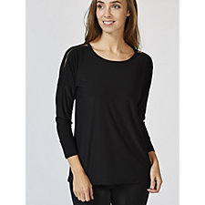 Antthony Designs Dolman Sleeve Top with Zip Detail Shoulder