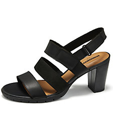 Clarks Kurtley Shell Strappy Sandal with Ankle Strap Standard Fit