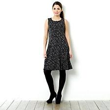 Tiana B Printed Dot Sleeveless Dress