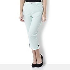 Quacker Factory DreamJeannes Cropped Trouser with Bling