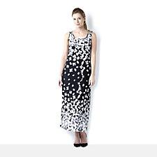 Kim & Co Brazil Knit Petunia Border Maxi Dress