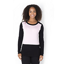Marble Two Tone Jumper with Mock Placket Back Detail