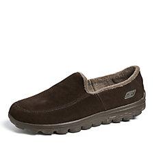 Skechers Men's GOwalk 2 Lounge Suede Slip On Shoe w/ Faux Fur Lining