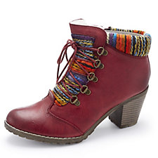 Rieker Wool Lined Lace Up Boot