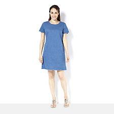 C. Wonder Short Sleeve Denim Dress