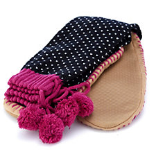 Muk Luks Patterened Slipper Socks