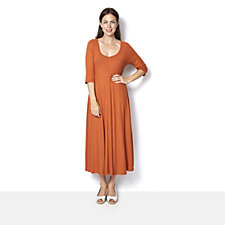 Join Clothes Rib Jersey 3/4 Sleeve Dress