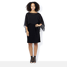 MarlaWynne Convertible Mixed Media Cape Dress