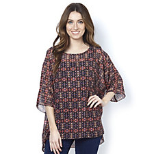 Join Clothes Printed Chiffon Oversized Tunic
