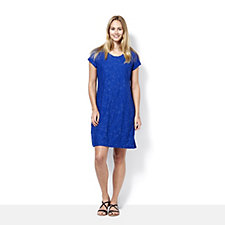 Isaac Mizrahi Live Scoop Neck Short Sleeve Dress