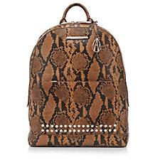 Amanda Wakeley The Flynn Leather Snake Print Backpack