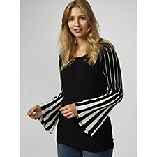 Attitudes by Renee Pleated Bell Sleeve Jumper