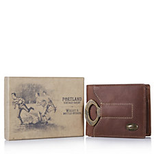 Brandwell Men's Leather Wallet with Bottle Opener
