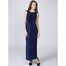Kim & Co Diamond Velvet Maxi Dress