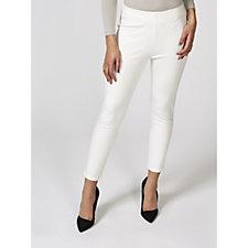 Kim & Co Milano Knit Elastic Waist Slim Leg Cropped Trousers