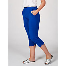 173617 - Cropped Trousers with Curved Hem by Nina Leonard