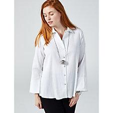 MarlaWynne Long Sleeve Easy Shirt with Wide Cuffline
