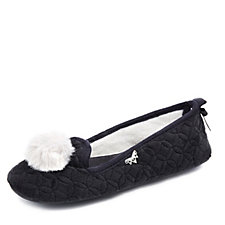 Pretty You London Meryl Pom Pom Ballerina Slipper