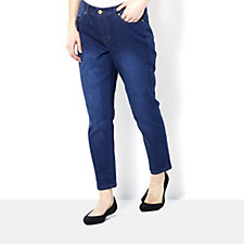 Isaac Mizrahi Live True Denim Regular Slim Ankle Length Jean