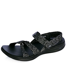 Skechers Goga Bountiful Heathered Ankle Wrap Strappy Sandal
