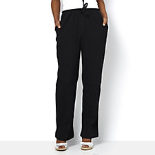 Denim & Co. Classic Waist Drawstring Gauze Trousers
