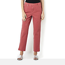 Isaac Mizrahi Live Coloured Soft Feel Denim Ankle Length Jeans