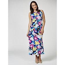 171818 - Coco Bianco Printed Jersey Maxi Dress Regular