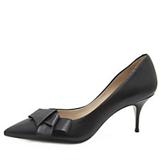 Bronx Soft Nappa Leather Origami Knot Kitten Heel Shoes