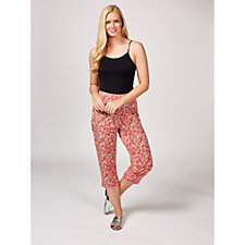 Kim & Co Sweet Ditsy Brazil Knit Cropped Trousers
