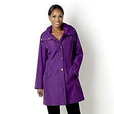 Centigrade Water Resistant Printed Lining Coat with Detachable Hood