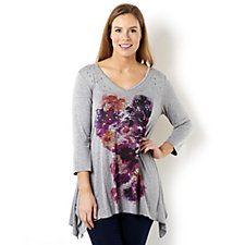 157619 - Fashion by Together Placement Print Tunic Top