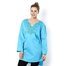 Sigrid Olsen Studio Embroidered Cotton Tunic