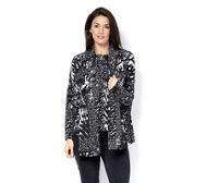 Marble Easy Fit Printed Top with Matching Scarf