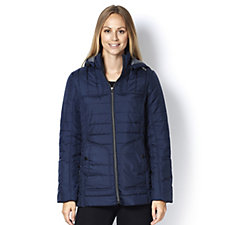 Centigrade Quilted Jersey Polyfill Jacket w/Removable Hood