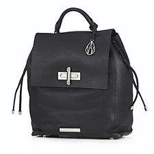 Amanda Wakeley The Elba Leather Backpack with Flapover Drawstring Closure