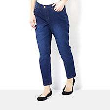 Isaac Mizrahi Live True Denim Petite Length Slim Ankle Length Jean