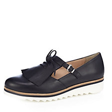 Manas Leather Brogue with Decorative Fringing