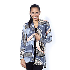 Mr Max Printed Brazil Knit Cardigan