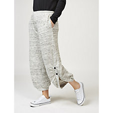 Yong Kim French Terry 2 Button Ankle Length Trousers