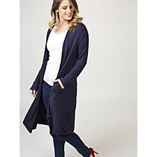 Join Clothes Long Sleeve Edge to Edge Cardigan with Pockets