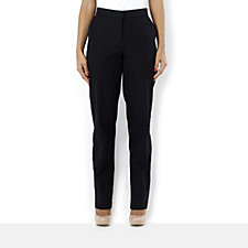 Isaac Mizrahi Live Straight Leg Stretch Trouser