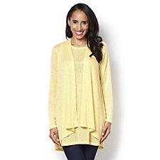 Kim & Co Linen Look Knit Cardigan & Tunic Set