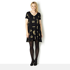 Biba Scattered Letter Jersey T-Shirt Dress