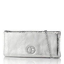 As Is Jack French Soho Leather Envelope Bag with Chain Handle
