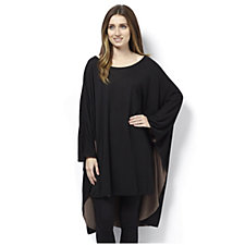 Join Clothes Oversized Contrast Colour Poncho Top