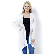162920 - Marble Edge To Edge Waterfall Front Cardigan