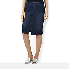 Women with Control Denim Skirt