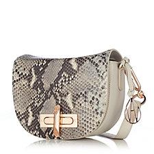 Amanda Wakeley The Mini Niven Leather Snake Front Shoulder Bag