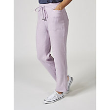 Isaac Mizrahi Live Soho Regular Brushed Back Fleece Trousers